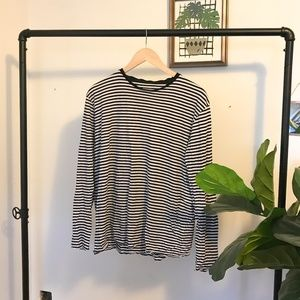 Striped Black and White Longsleeve Shirt